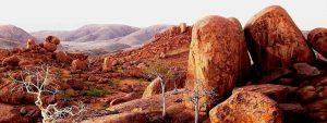 Paesaggio della Namibia, il Damaraland