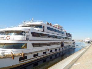Nave Sanctuary Nile Adventurer ormeggiata al porto