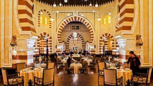 Il ristorante dell' Old Cataract Hotel di Aswan