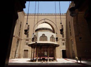 Vista della Moschea di Sultan Hassan